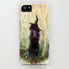 Black Magic Borzoi iPhone Case