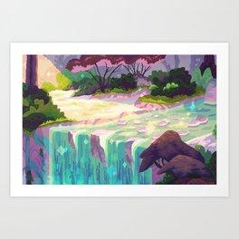 Giant Woman River Pixel Art Print