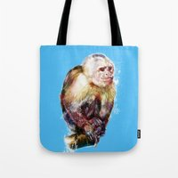 monkey Tote Bags featuring Monkey by beart24
