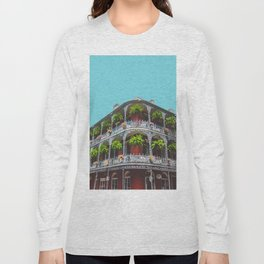 Hanging Baskets of Royal Street, New Orleans Long Sleeve T-shirt
