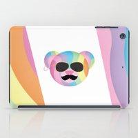 bondage iPad Cases featuring Punk Rainbow Bondage Bear by YOSH FRIDAY