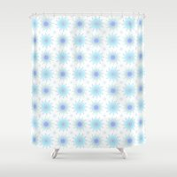 flower pattern Shower Curtains featuring FLOWER PATTERN by Lulla