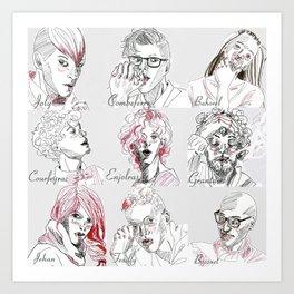 Les Amis Art Print