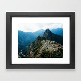 Flowers Before Machu Picchu Framed Art Print