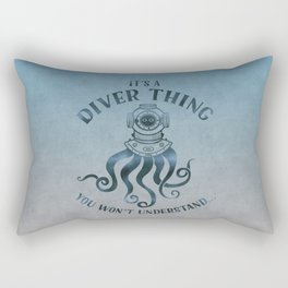 It's A Diver Thing Funny Octopus Scuba Dive Art Rectangular Pillow