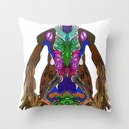 CreaturefAceSureel Throw Pillow