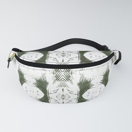 Tropical Leaves, Night Watch Series 1, Travellers Palm Print Fanny Pack