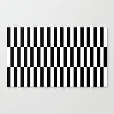 Black & White Triple Stripe Canvas Print