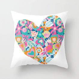 Feeling the love - heart shape Throw Pillow