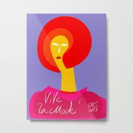 Vive la Mode Minimal French Art Illustration Metal Print