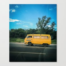 yellow_kombi#02 Canvas Print