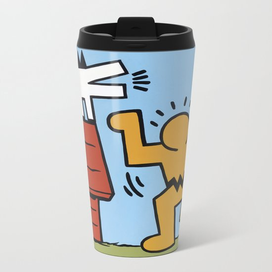 Keith Haring + Charles Schulz Metal Travel Mug