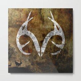 Real Tree Horns Metal Print