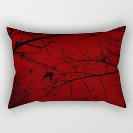 Red Forest Rectangular Pillow