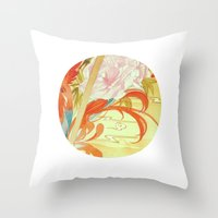 oriental Throw Pillows featuring Oriental by Tao Hua Wu Oriental Art