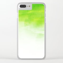 Green mix Clear iPhone Case