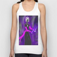 homestuck Tank Tops featuring Grimdark Rose by Paula Urruti