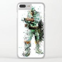BOBA FETT Star . Wars Clear iPhone Case