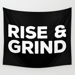 Rise & Grind Gym Quote Wall Tapestry