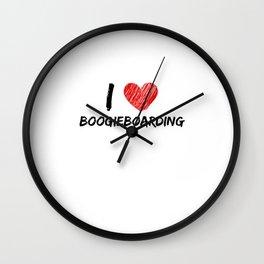 I Love Boogieboarding Wall Clock