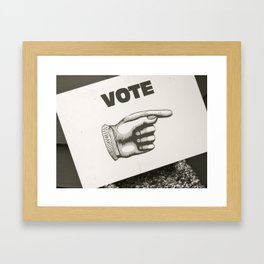Vote Here Framed Art Print