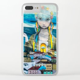 street graffiti in Kiev Clear iPhone Case