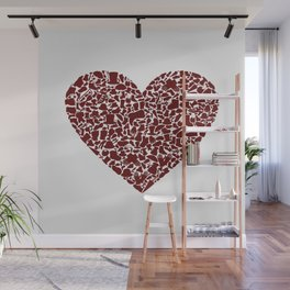 Heart clothes Wall Mural
