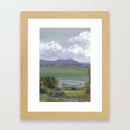 AIRSTREAM, Montana Travel Sketch by Frank-Joseph Framed Art Print