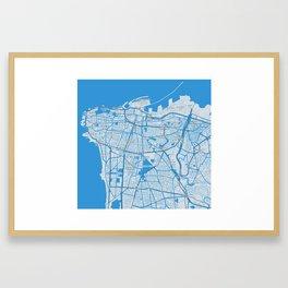 Minimalist Modern Map of Beirut, Lebanon 2 Framed Art Print