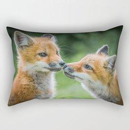 Fox cubs Rectangular Pillow