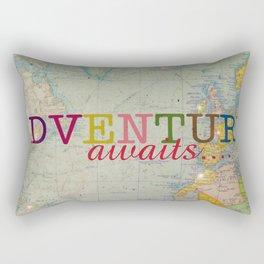 Adventure Awaits Rectangular Pillow