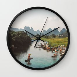 River bank scenic beauty Wall Clock