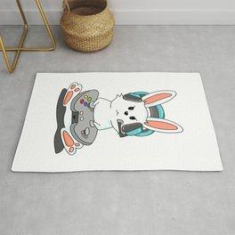 Gaming Bunny Gamer Rabit Headset Gamepad Gift Rug