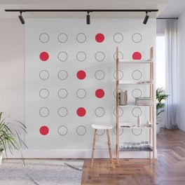 Red dots Wall Mural