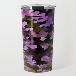Foliage Abstract Pop Art In Ultra Violet and Purple Travel Mug