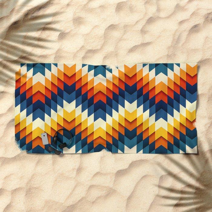 Wanderlust pattern Beach Towel