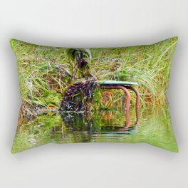 Seaweed Covered Chair Rectangular Pillow
