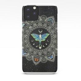 Lunar Moth Mandala with Background iPhone Case