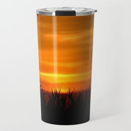 BEACH GRASS IN THE SUNSET Travel Mug