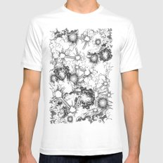 Explosions White Mens Fitted Tee MEDIUM