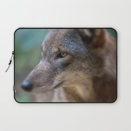 Red Wolf Stares Laptop Sleeve