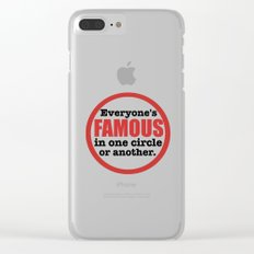 Famous Clear iPhone Case
