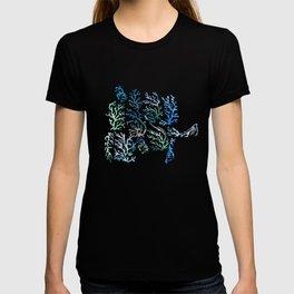 underwater blue corals T-shirt