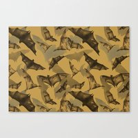 bats Canvas Prints featuring Bats by Deborah Panesar Illustration