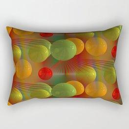 crazy lines and balls -23- Rectangular Pillow