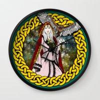 goddess Wall Clocks featuring Goddess by Astrablink7