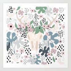 Deer paradise Art Print