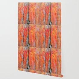 Weathered Wood Shutter rustic decor Wallpaper