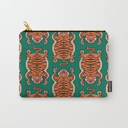 TIBETAN TIGER - ALL OVER (green) Carry-All Pouch