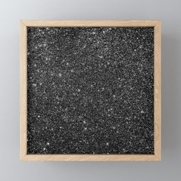 Black Faux Glitter Framed Mini Art Print